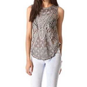 FREE PEOPLE Not So Sweet Victorian Tank Size S